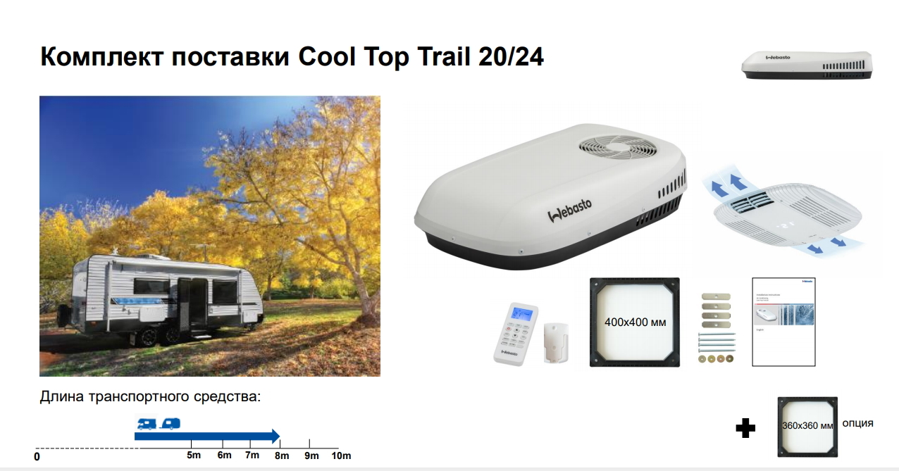 Комплект поставки Webasto Cool Top Trail 20